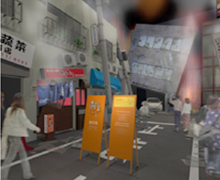 In a diorama where you experience repeated aftershocks through sound, lighting, and imagery, you will make your way to an evacuation area while asking a quiz with portable game machine. At the Cinema Station, you will experience a simulation of an earthquake centered under Tokyo through computer generated imagery.