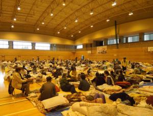 南阿蘇中学校体育館 避難所