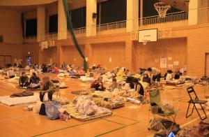 避難所の様子